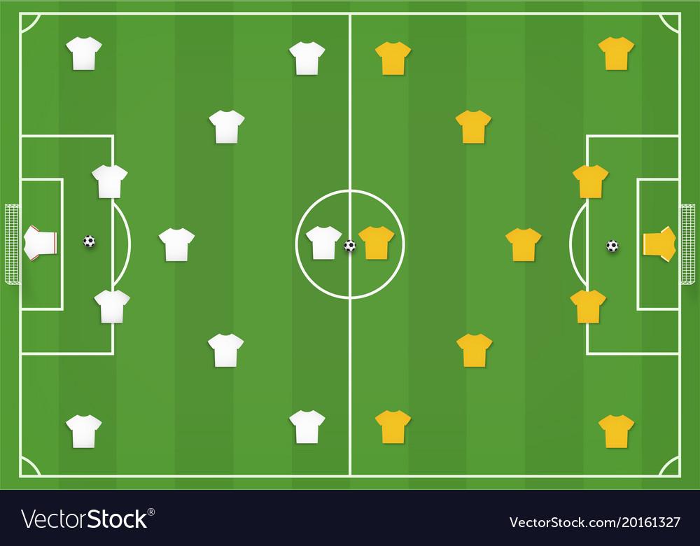 Картинка футбольного поля с расстановкой