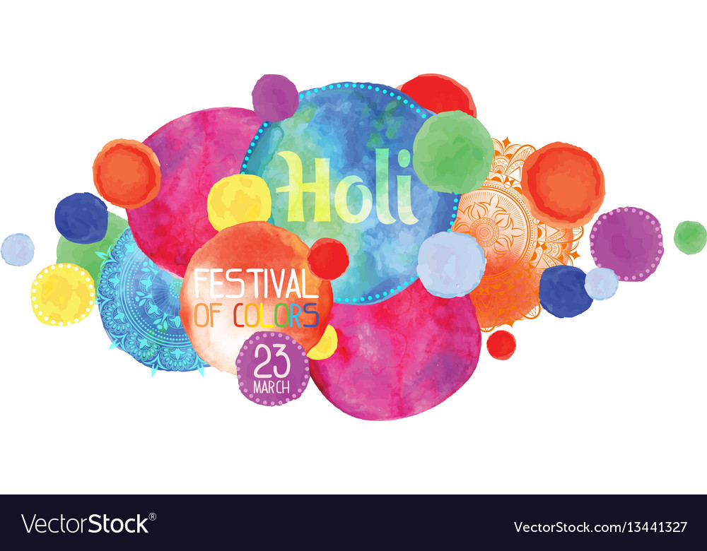 The poster for the festival of holi
