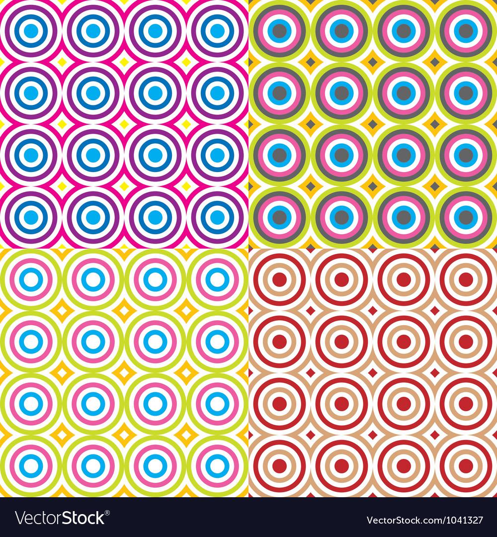 Vintage seamless pattern set vector image