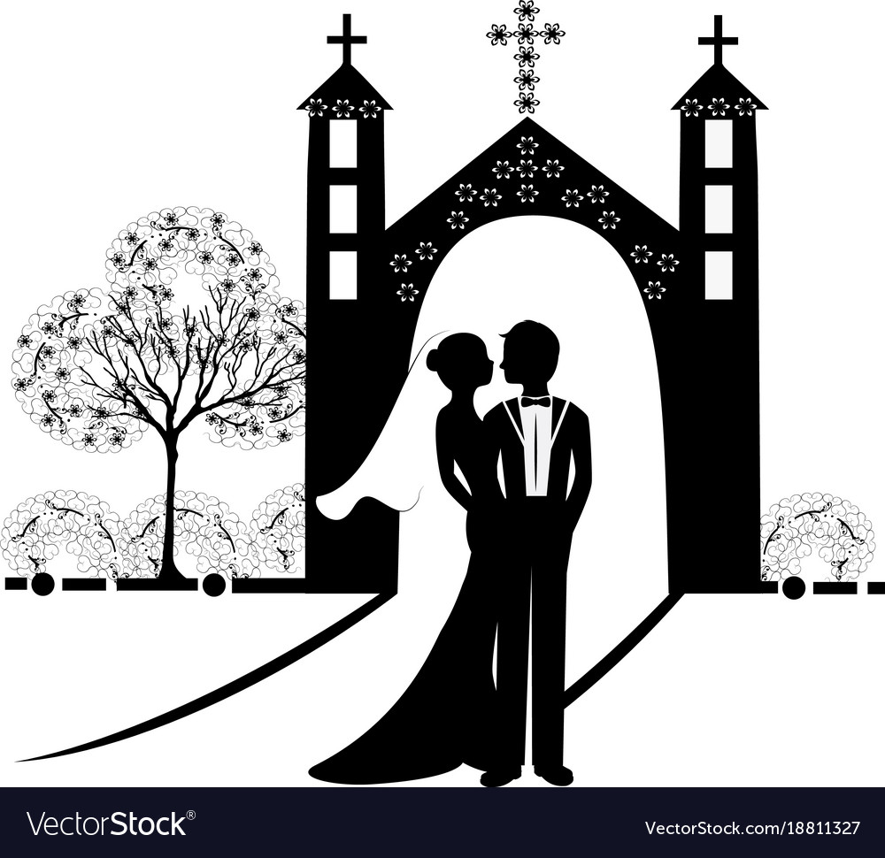 Wedding silhouette 9 royalty free vector image wedding silhouette 9 vector image junglespirit Gallery