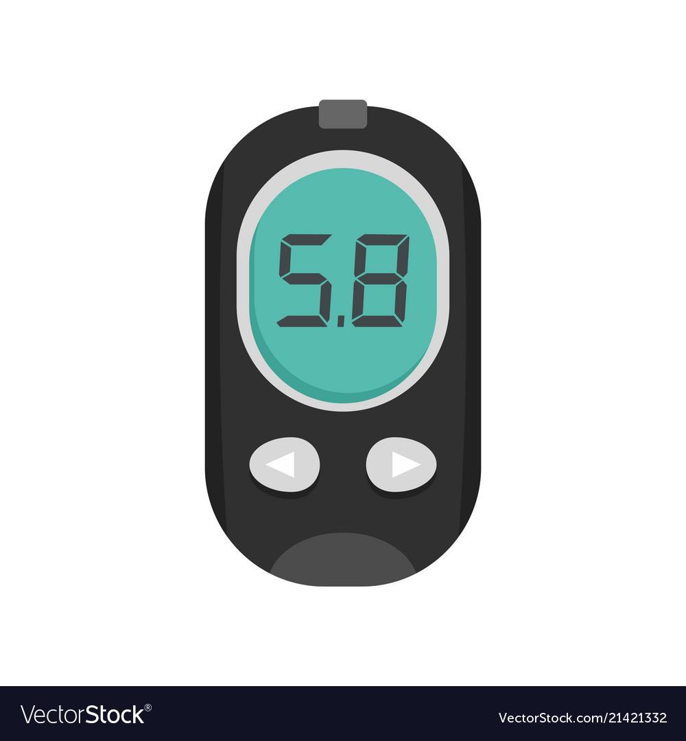 Free Blood Glucose Meter >> Blood Glucose Meter Icon Flat Style