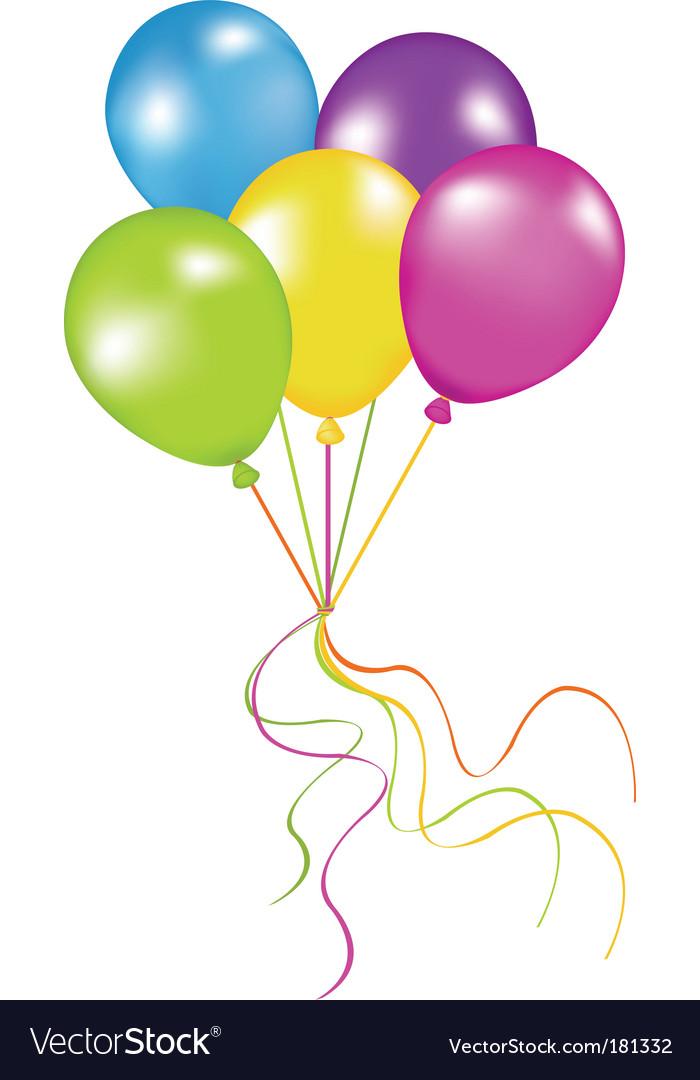 Bunch Of Balloons Royalty Free Vector Image Vectorstock