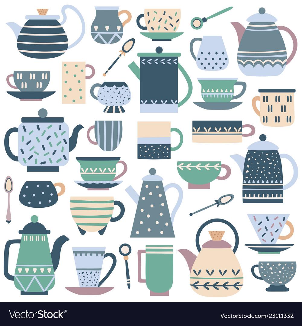 Ceramic kitchen teacup porcelain tea service