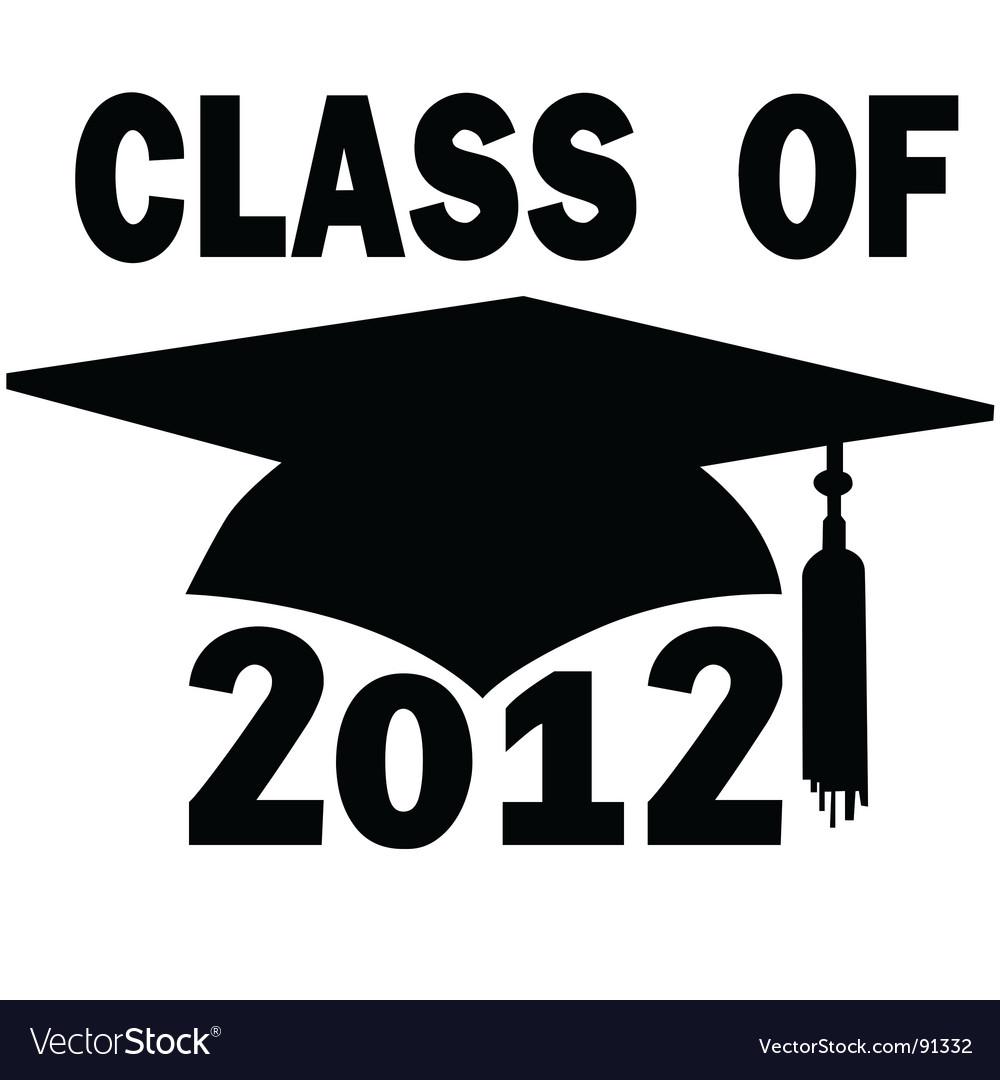 College high school graduation vector image