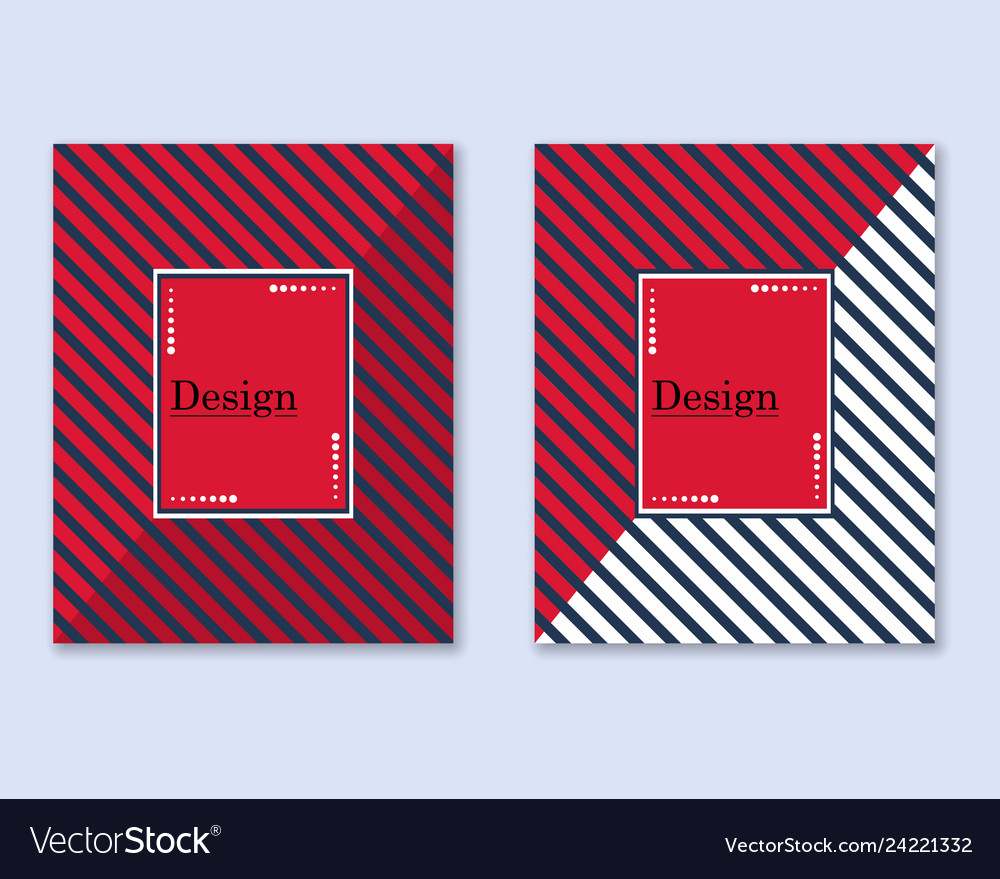 Cover with diagonal lines black and red