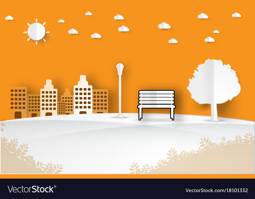 Minimalist landscape public park vector image
