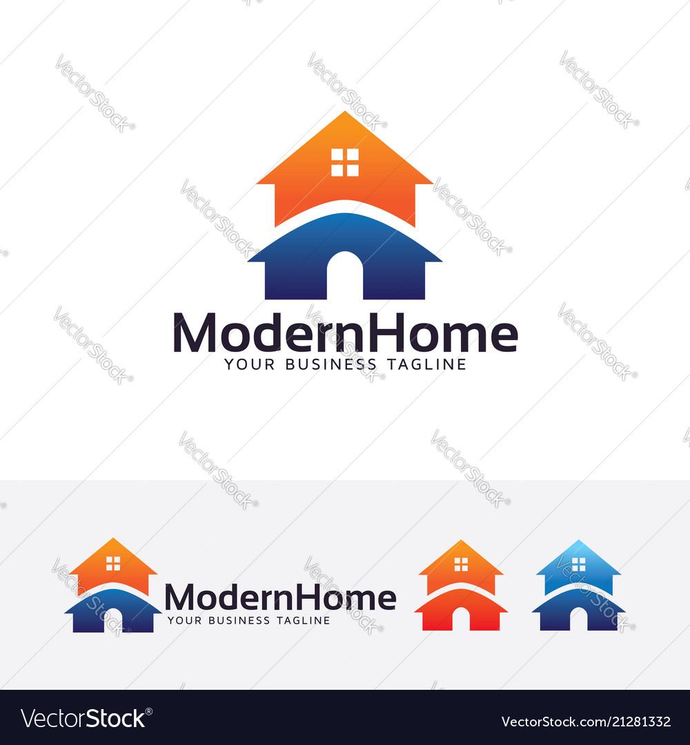 Modern home logo design