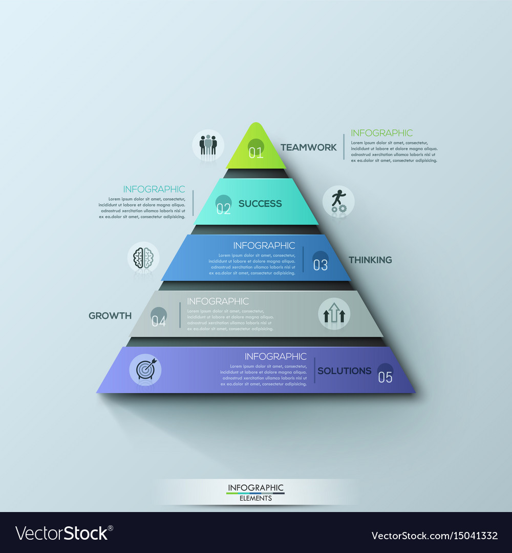 Modern infographic design template triangular