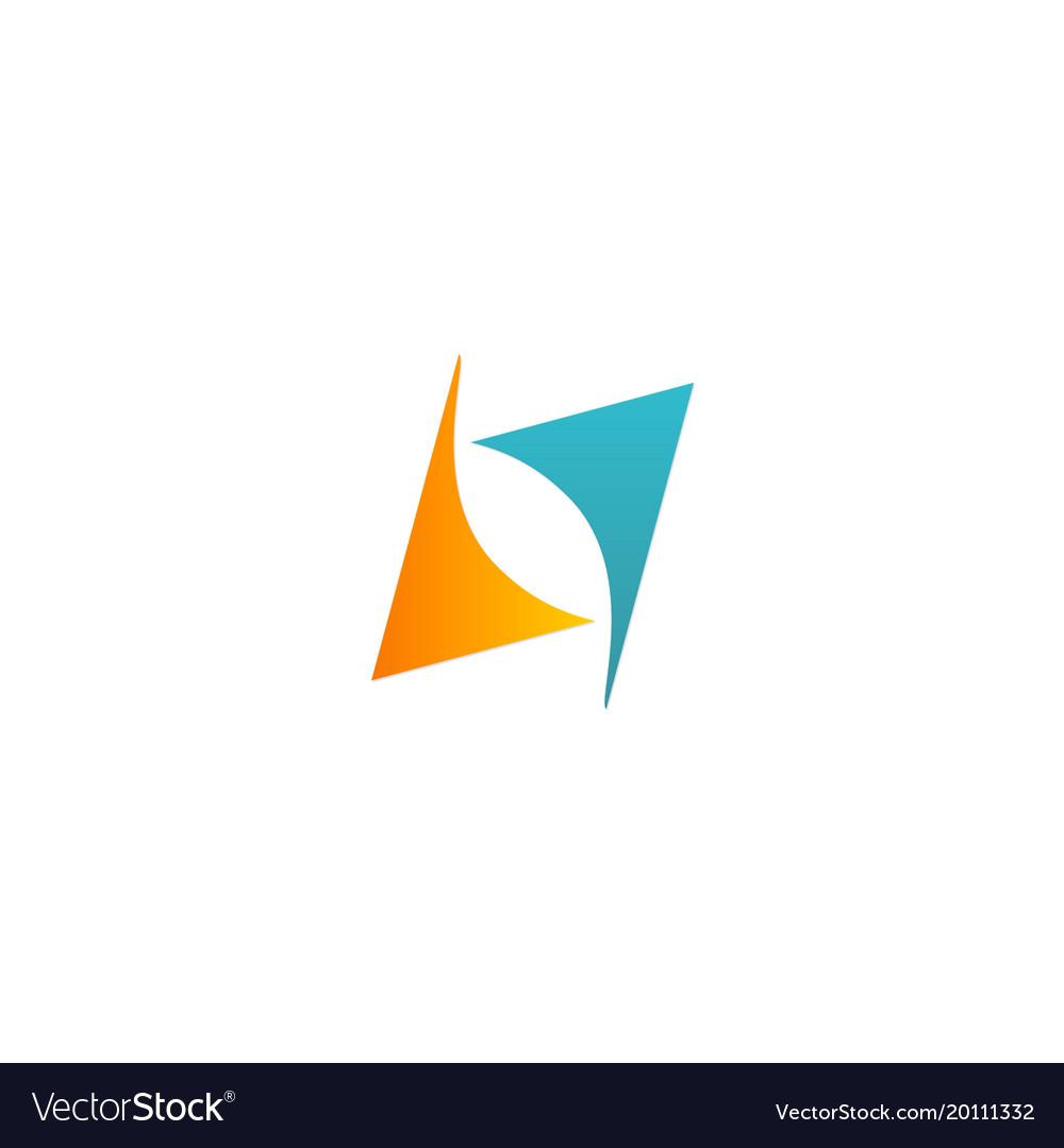 Shape arrow circle balance logo