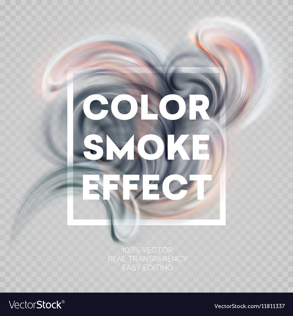 Abstract colored smoke effect background design