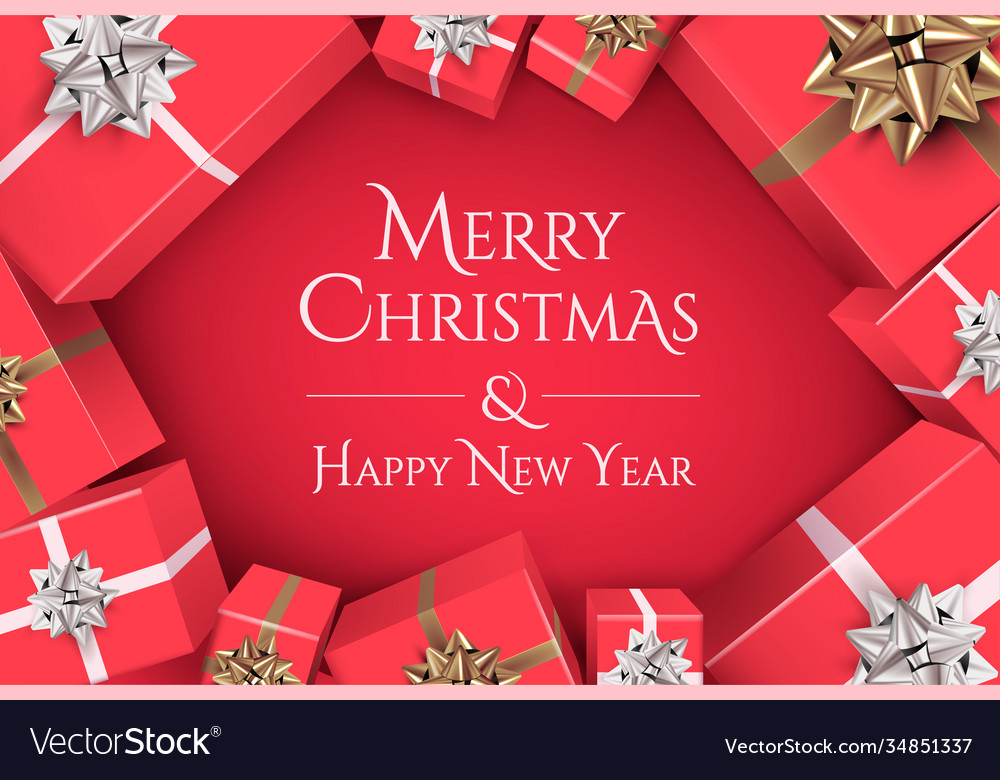 Christmas banner design with merry vector