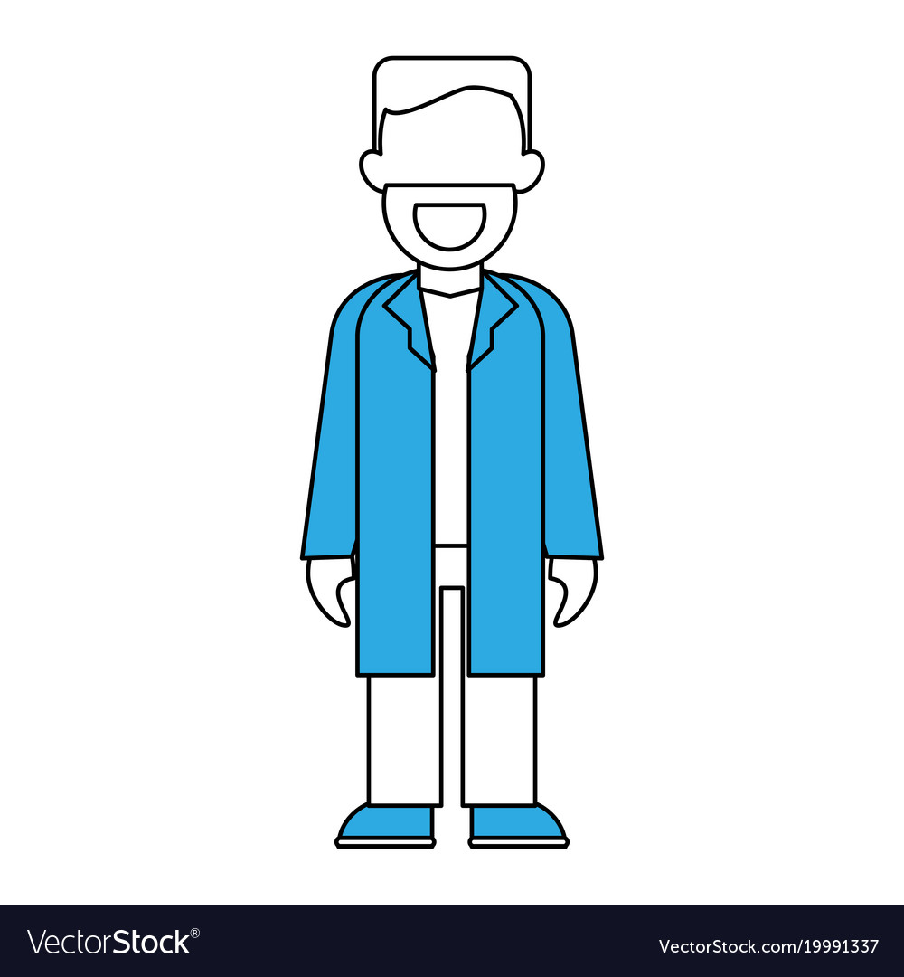 Doctor with gown faceless avatar Royalty Free Vector Image