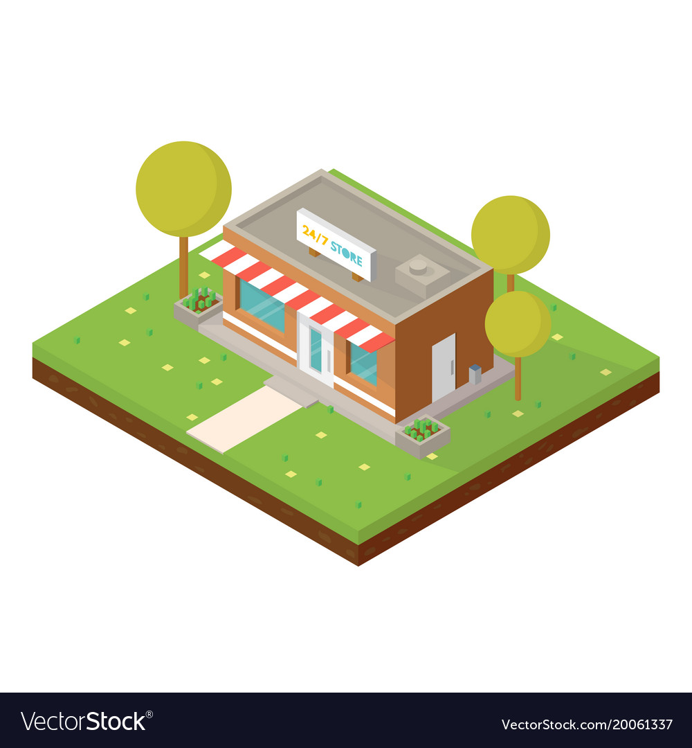 Isometric small shop