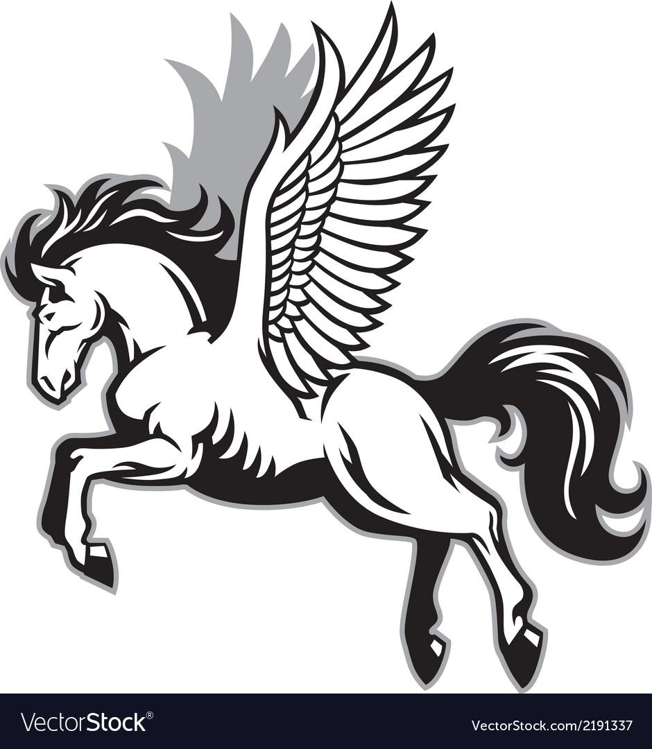 Pegasus Royalty Free Vector Image - VectorStock fec27ea4205a
