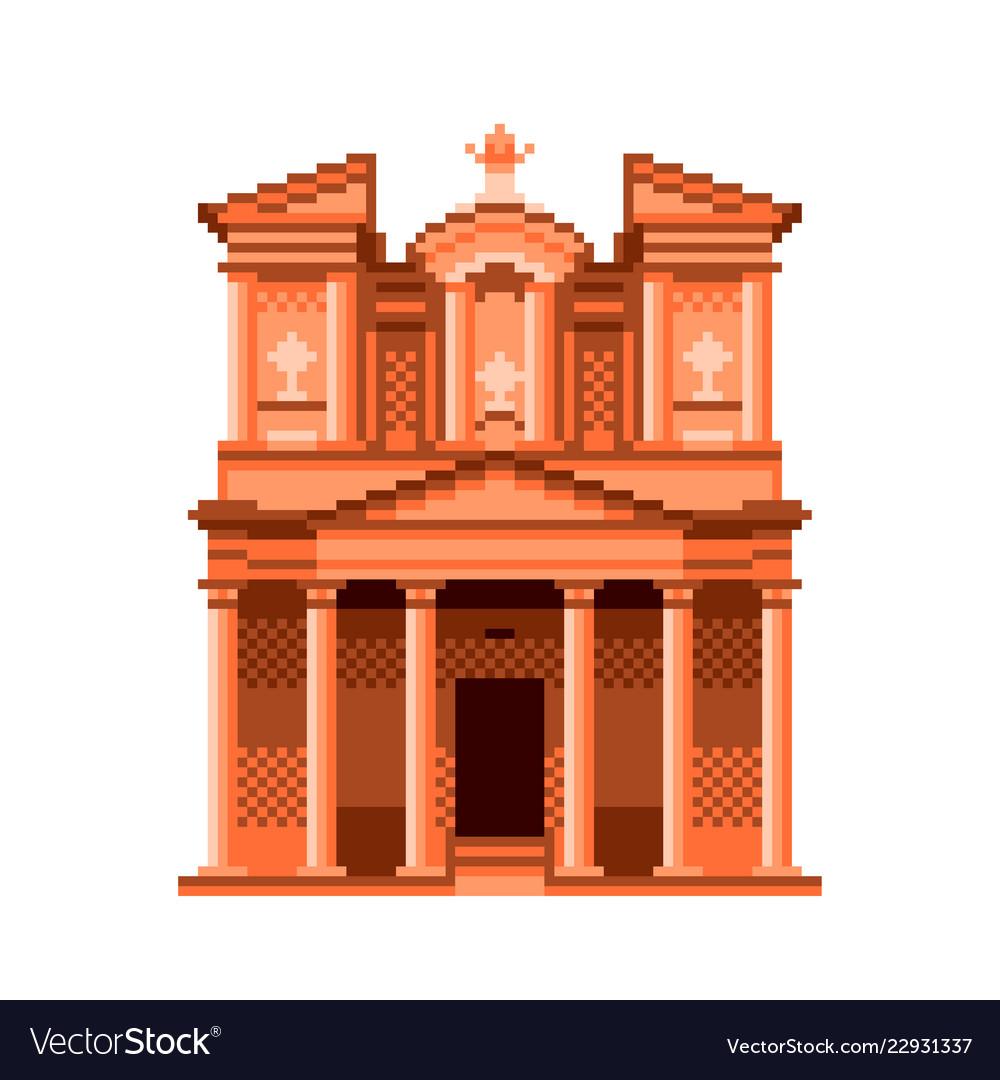 Pixel jordan petra temple wonders of the world
