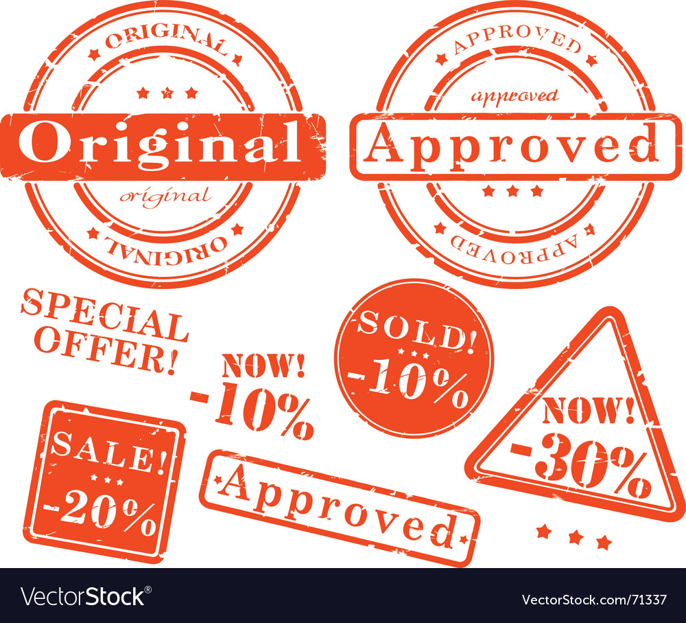 Sale stamp set vector image