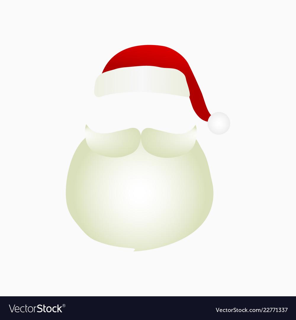 f8c9bb1da89 Santa claus mask Royalty Free Vector Image - VectorStock