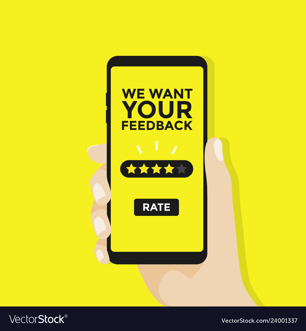 We want your feedback give five star rating