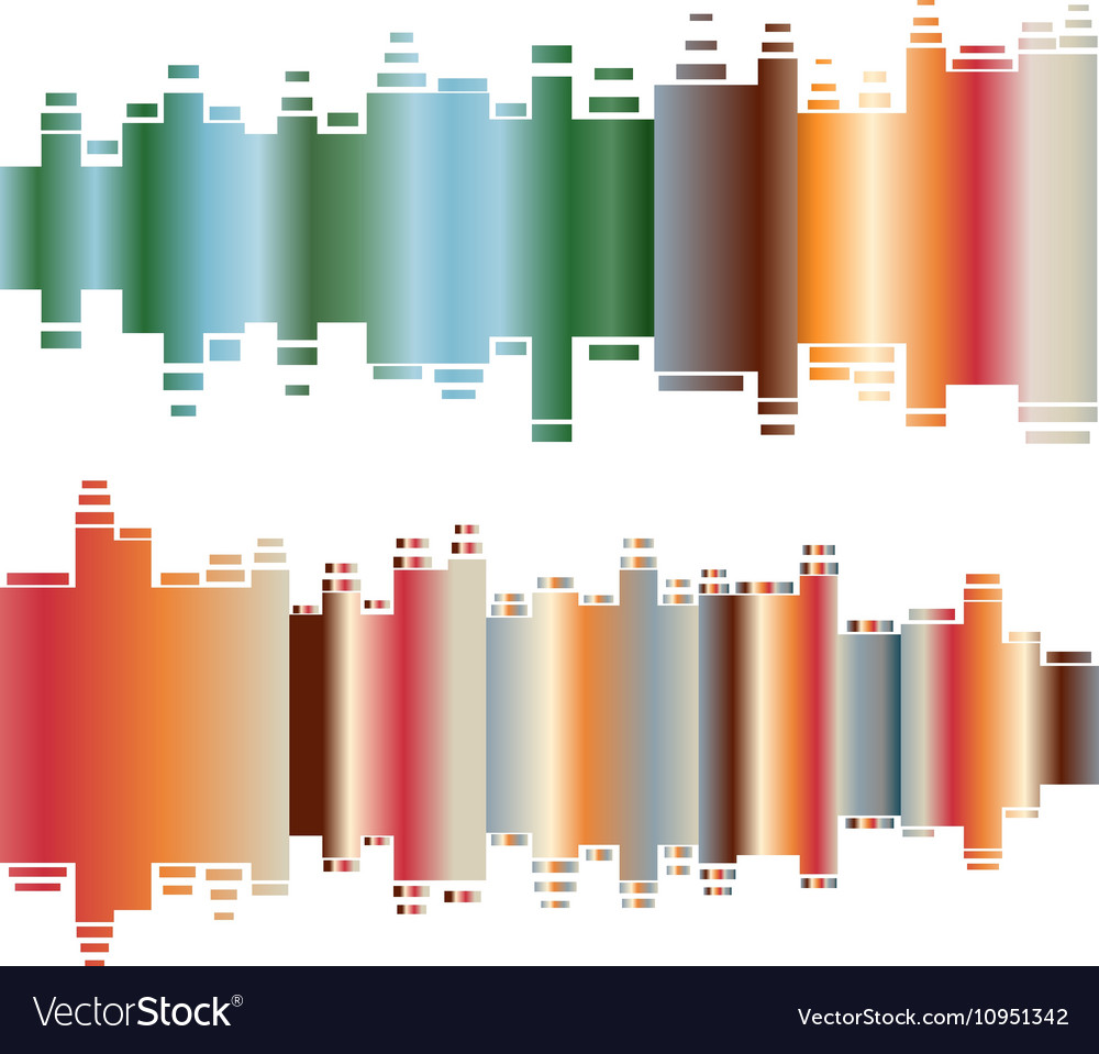 Abstract colorful gradient indicator set Abstrsct