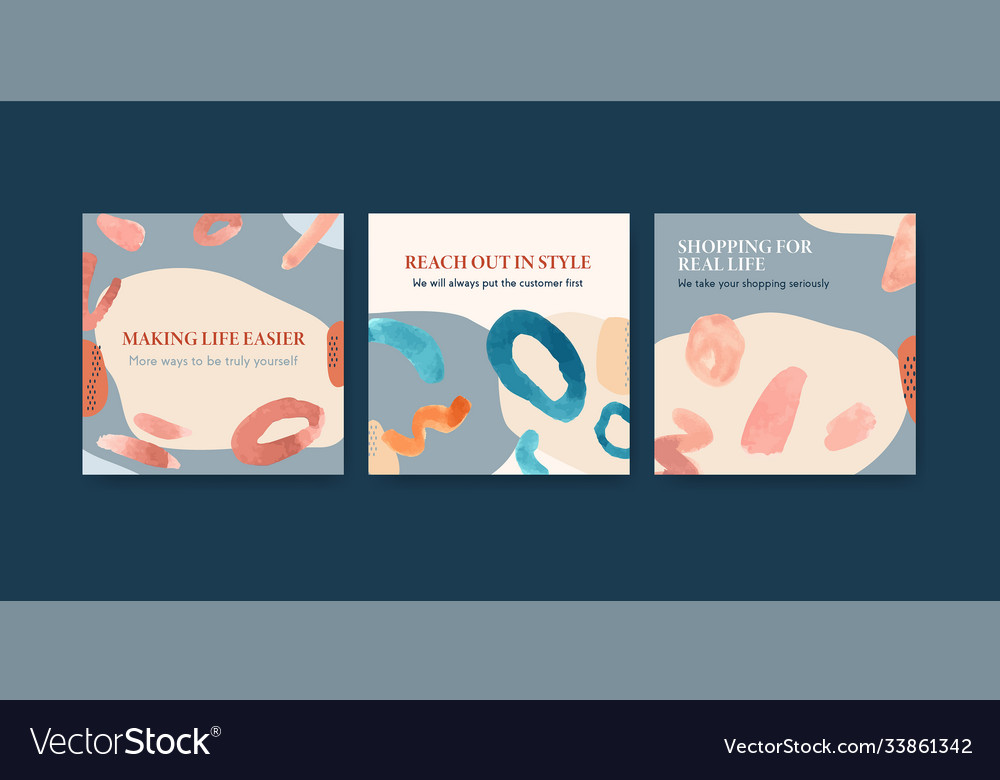 Advertise template with shopping design for