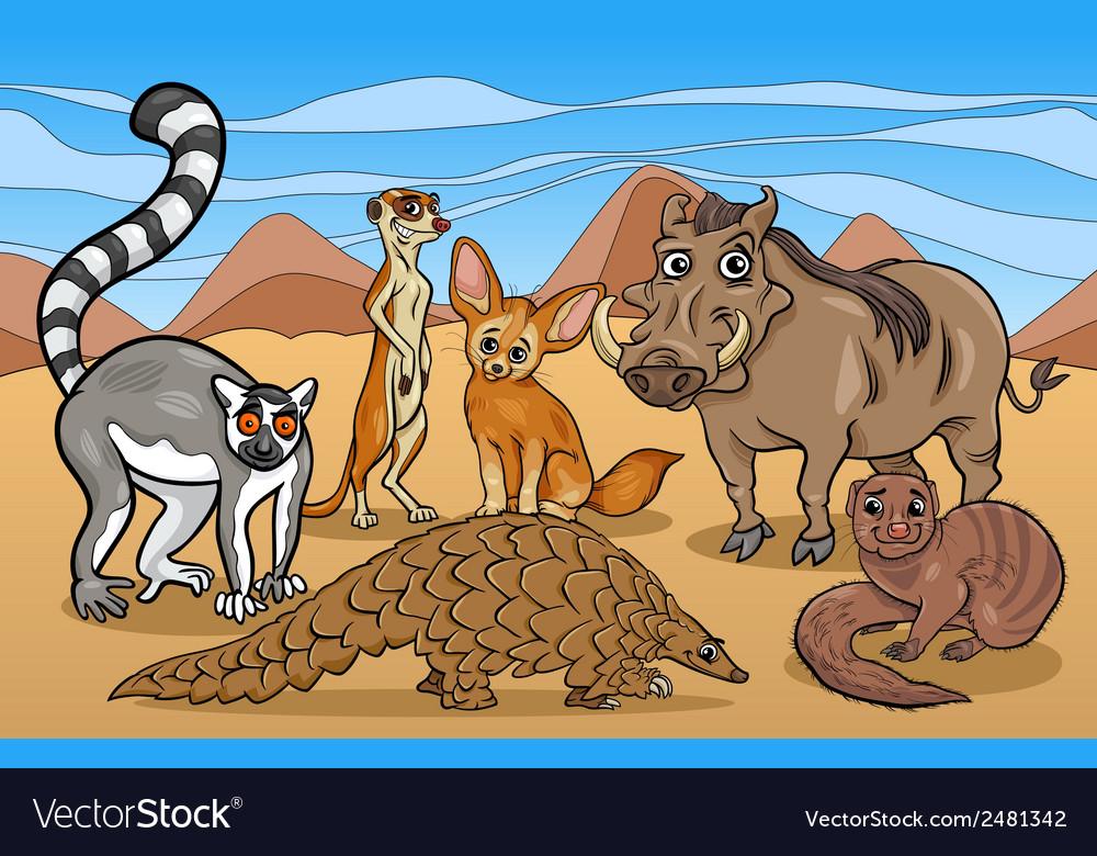African mammals animals cartoon