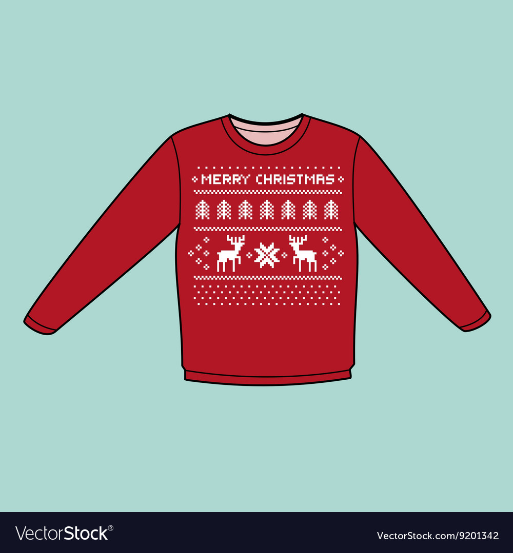 Christmas winter warm sweater flat icon