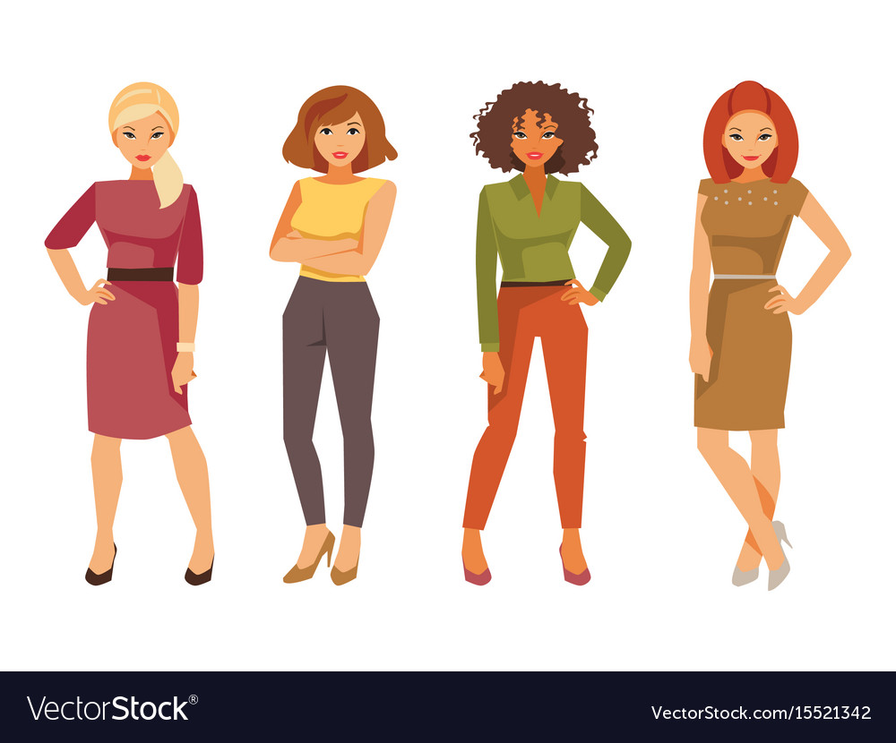 Fashion women in office clothes