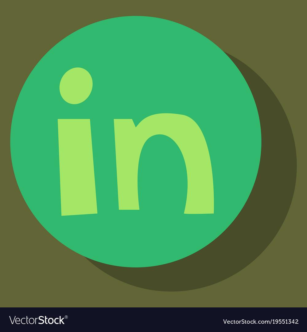 Flat Linkedin Color Icon Glossy App Icon Logo