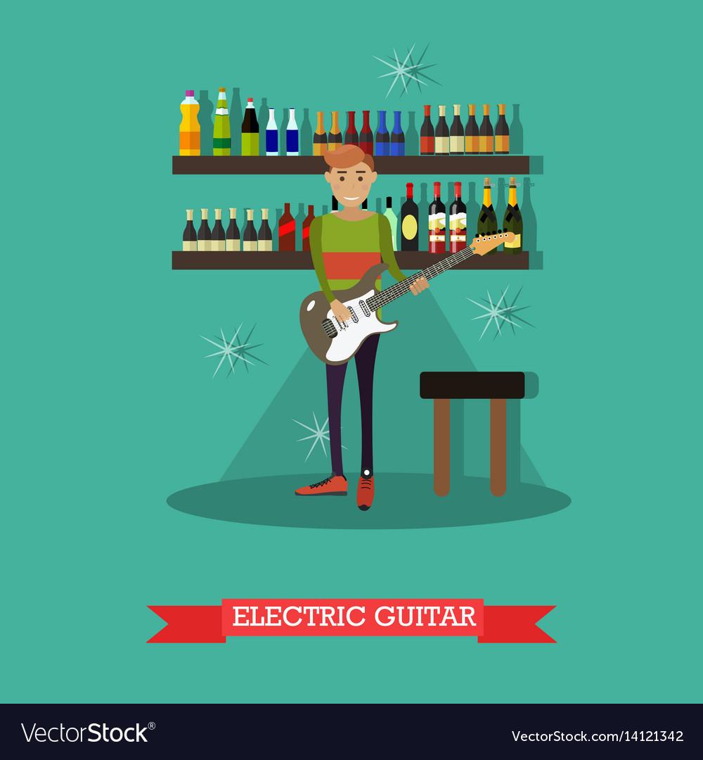 Guitarist playing electric