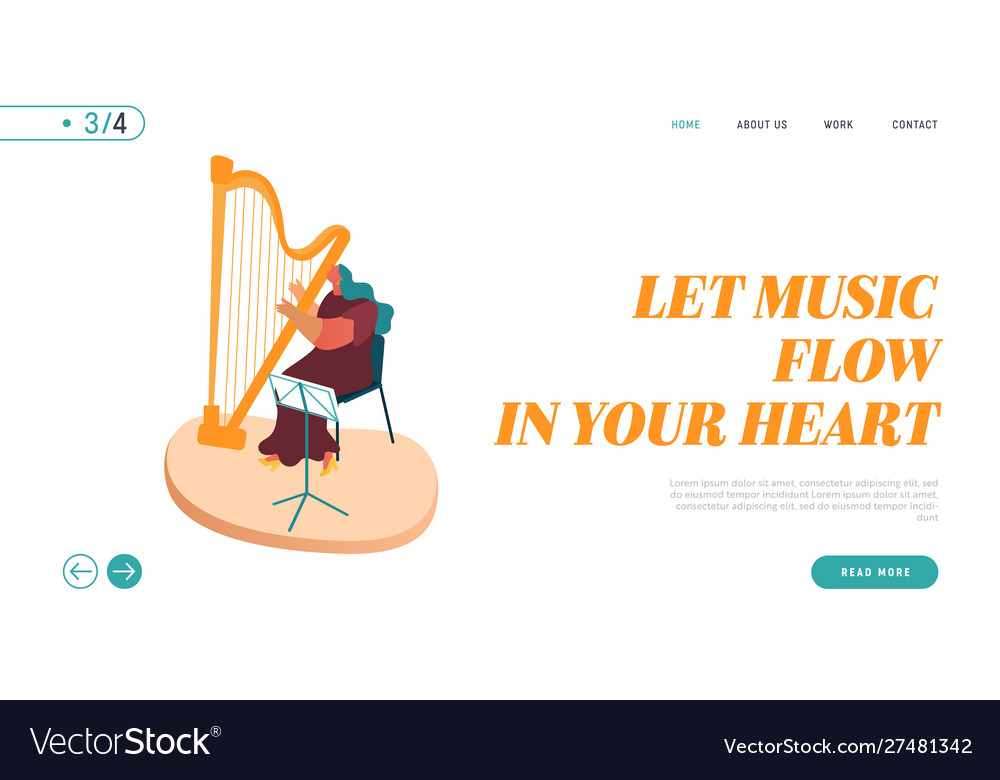 Landing page symphony orchestra playing