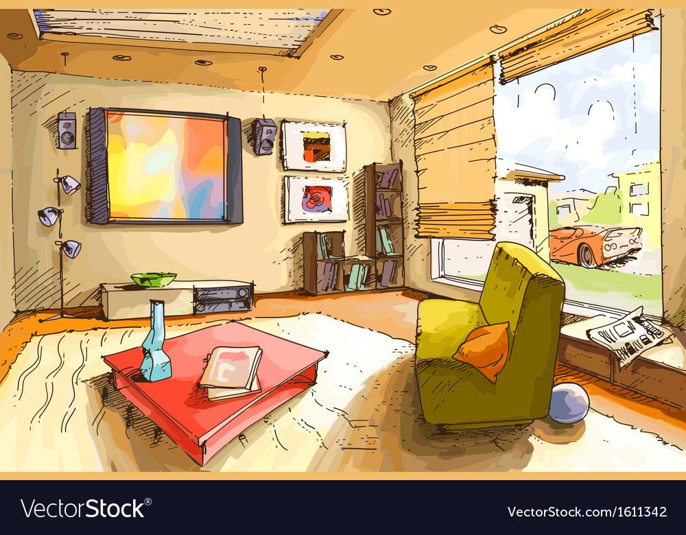 Light Living Room vector image
