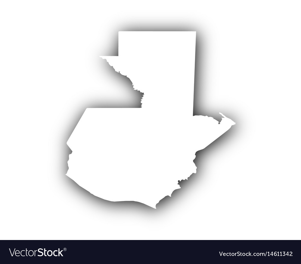 Map of guatemala with shadow vector image