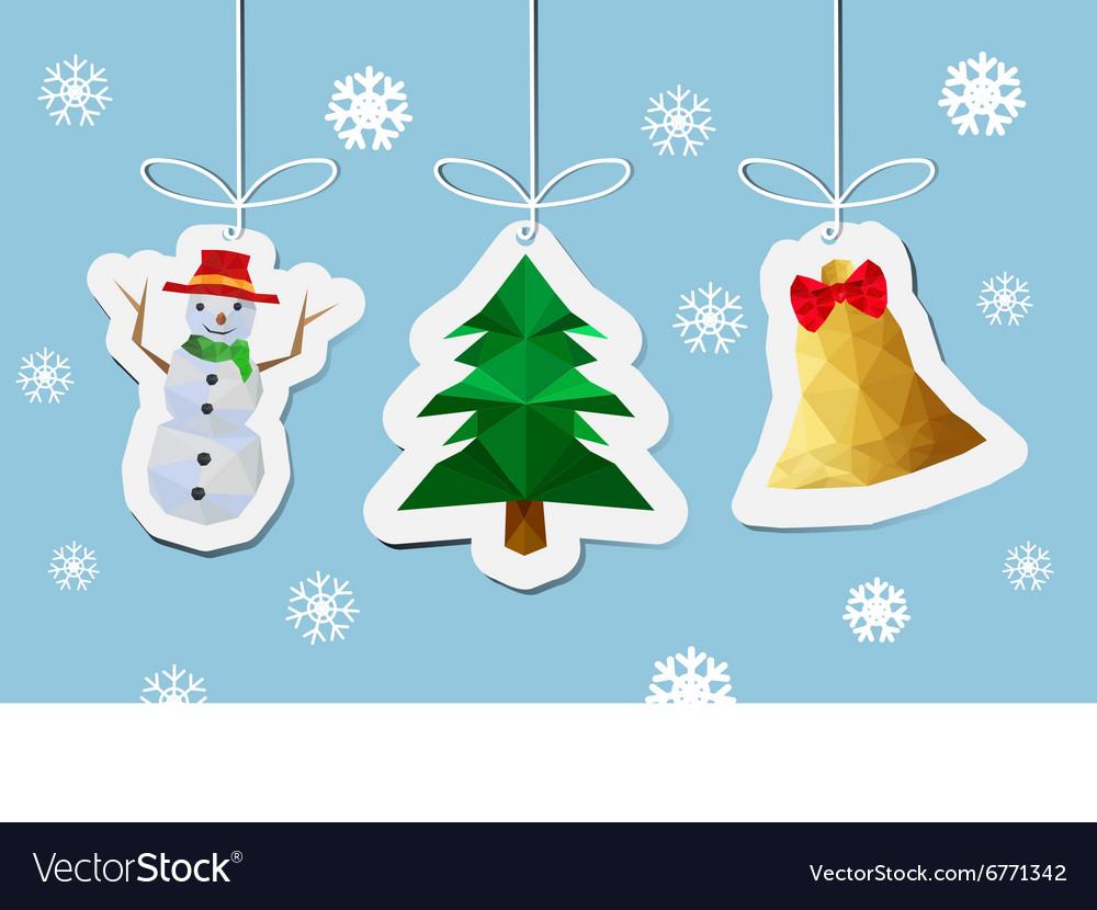 Modern flat card with Christmas balls