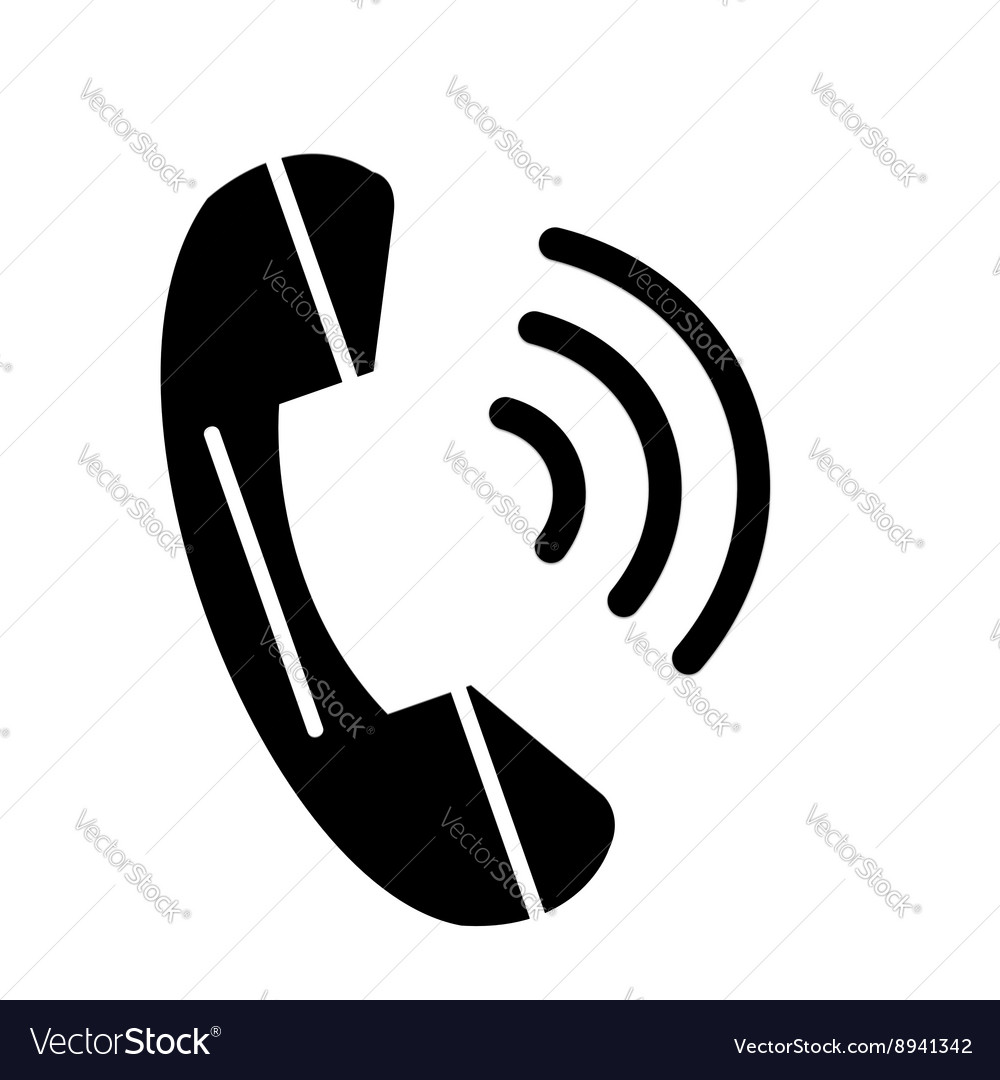 Phone icon contact web concept symbol call button vector image
