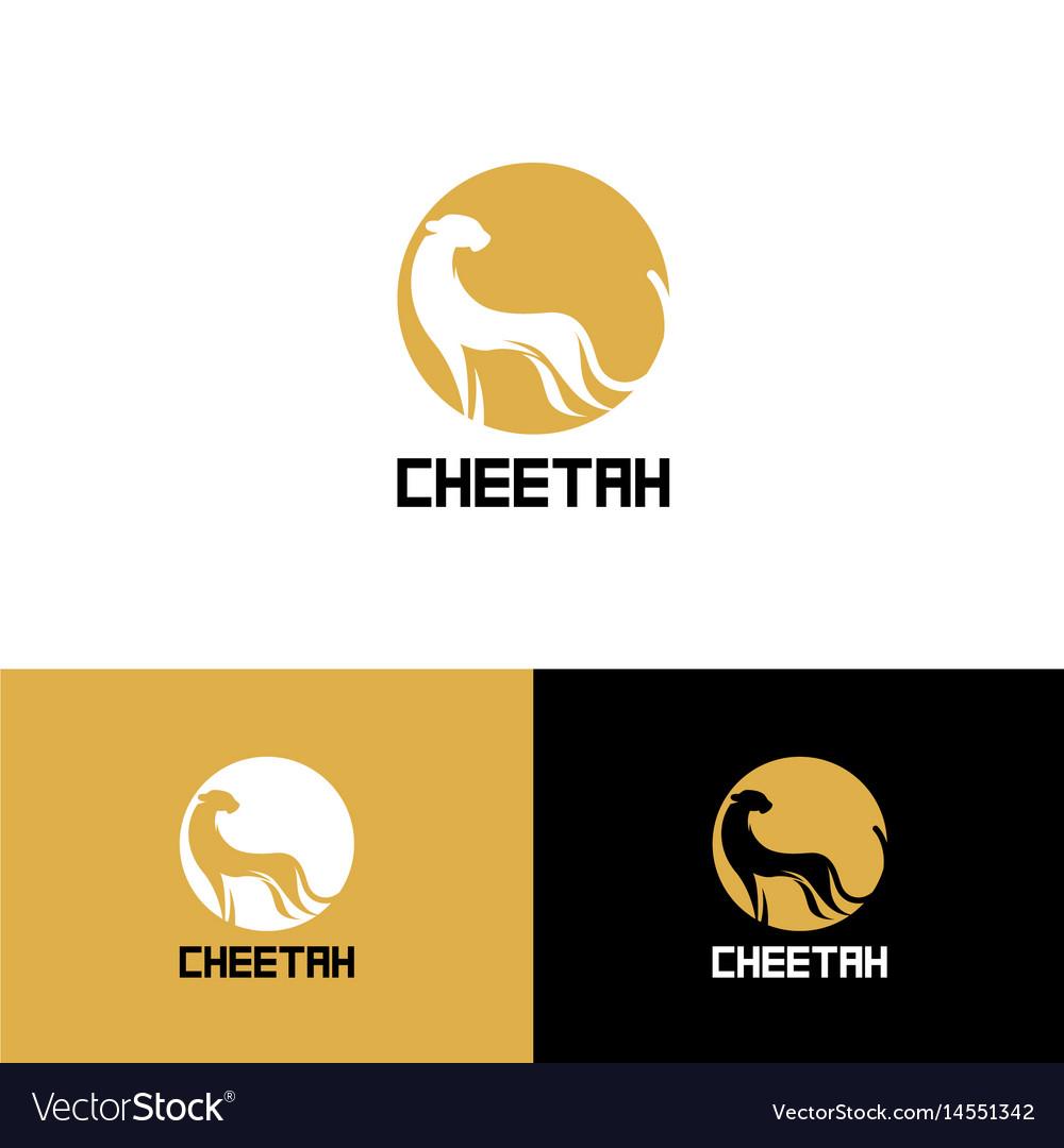 Printstylized cheetah logo cheetah