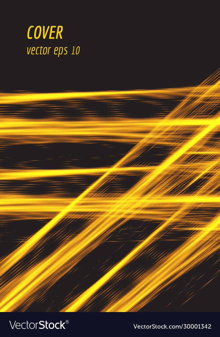 Speed glowing line cover design with particles