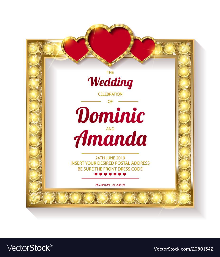 Wedding invitation thank you card