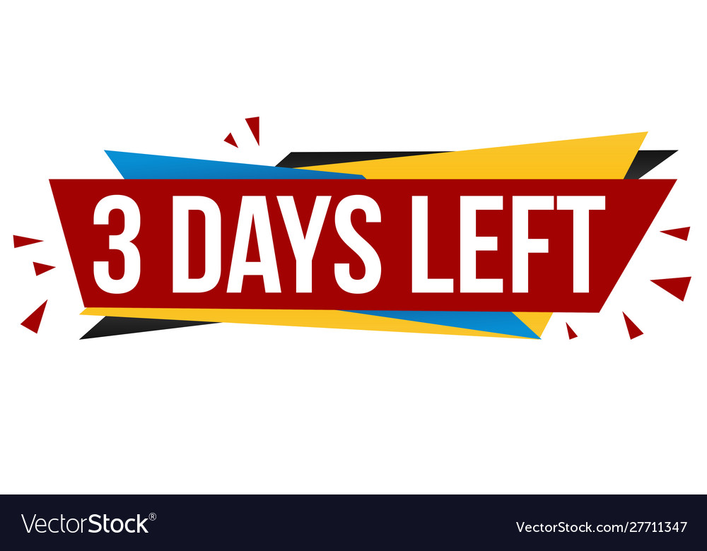 3 days left banner design
