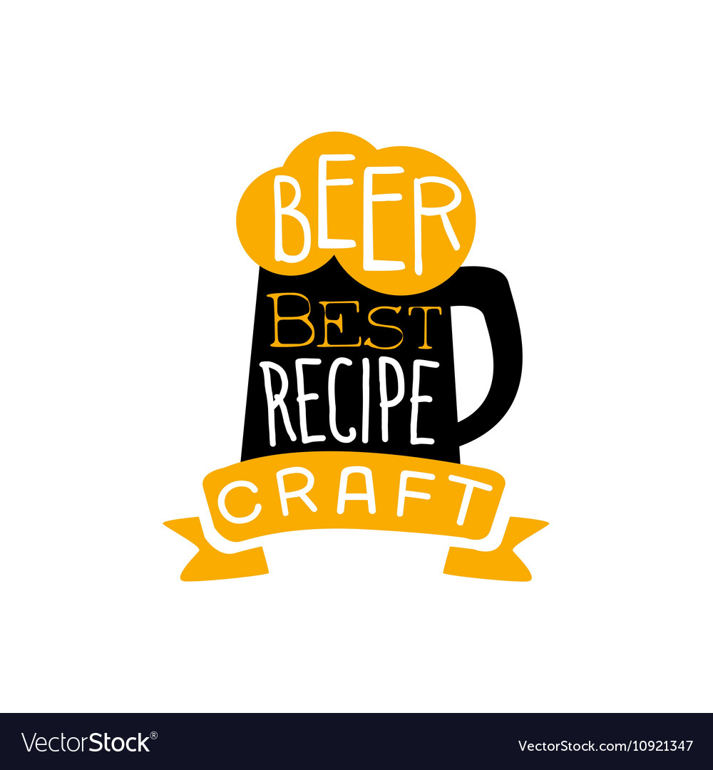 Best Recipe Beer Logo Design Template Royalty Free Vector