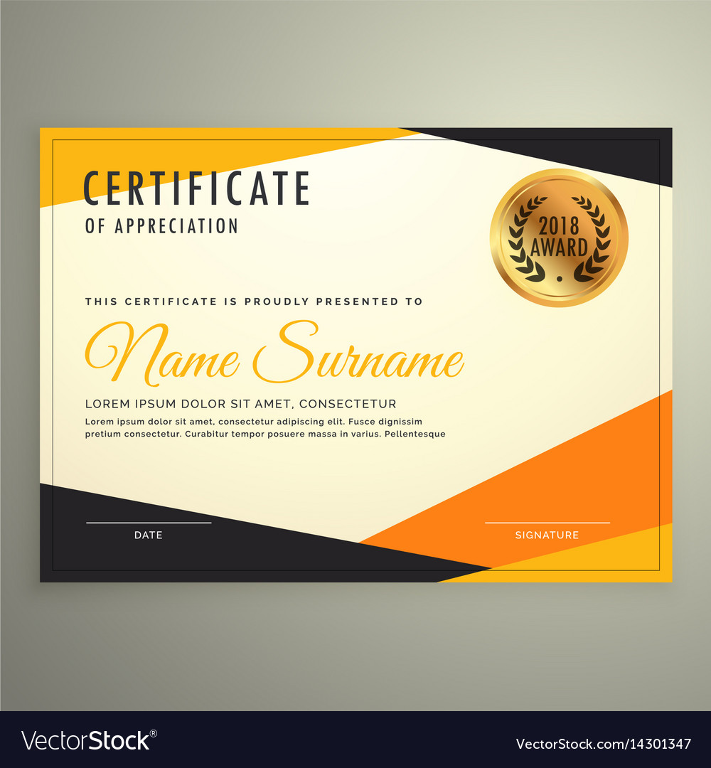 certificate design template with clean modern vector image