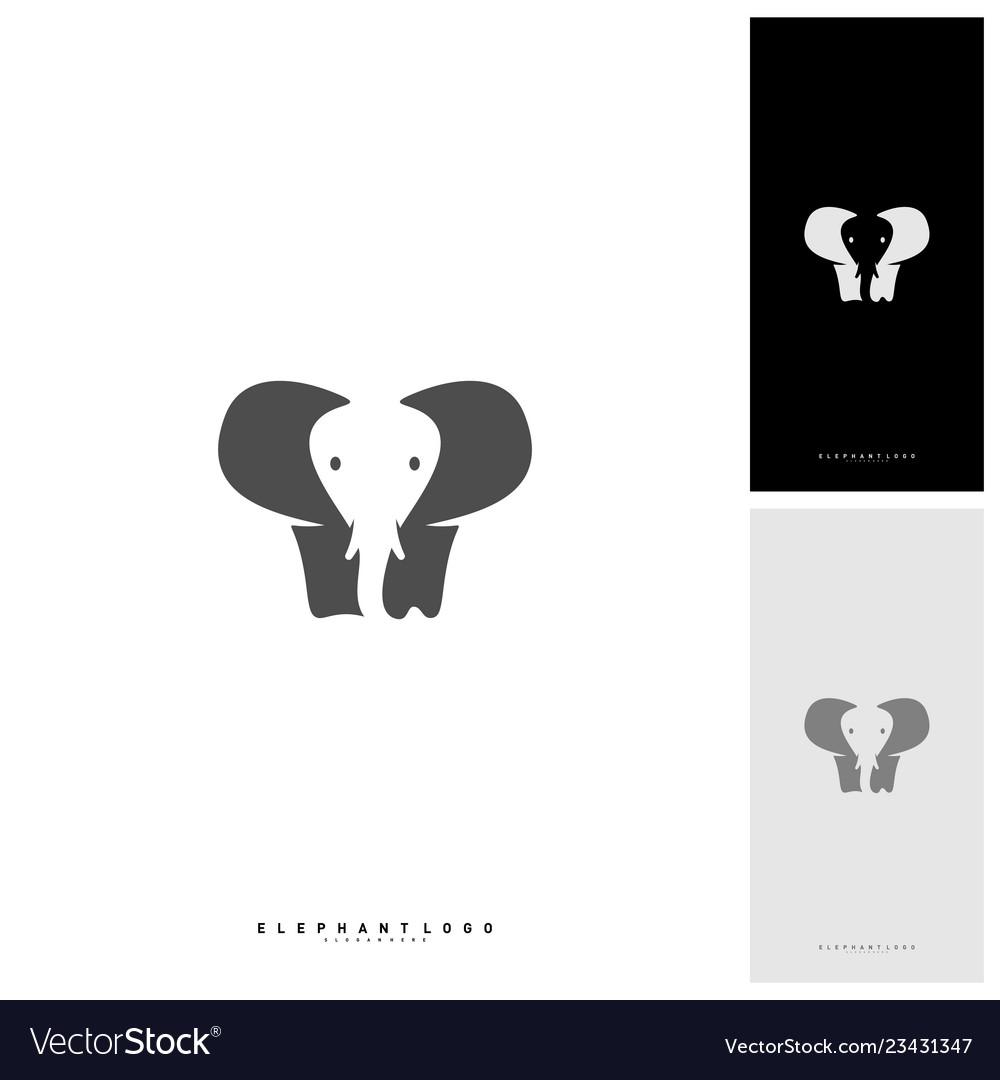 Elephant logo design template