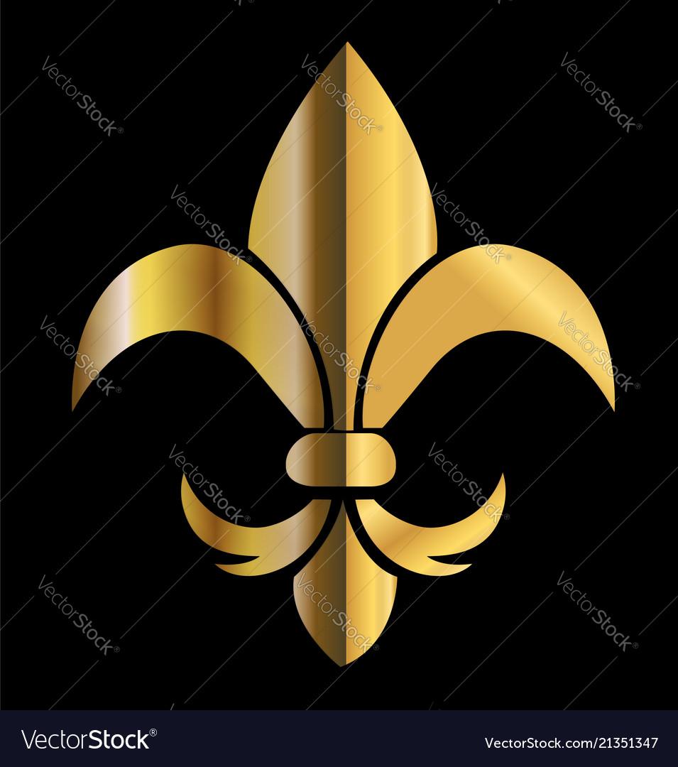 Gold emblem flower