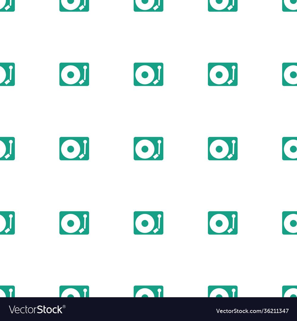 Gramophone icon pattern seamless white background