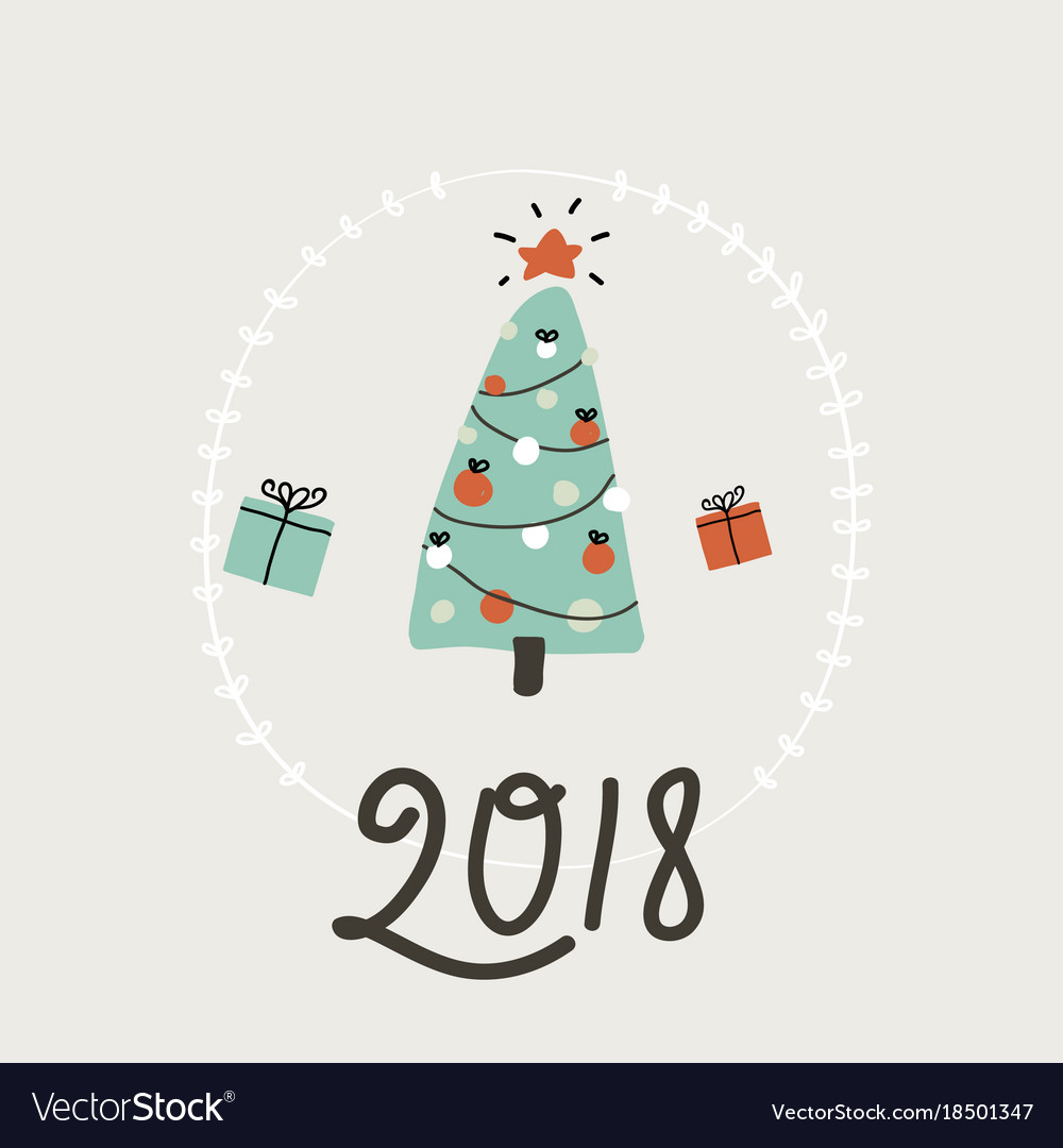 happy new year card simple vector image