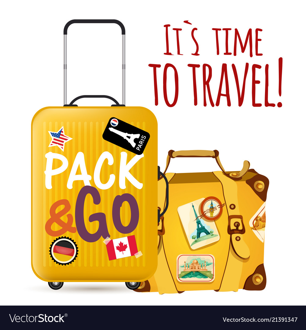 Its time to travel baggage background image