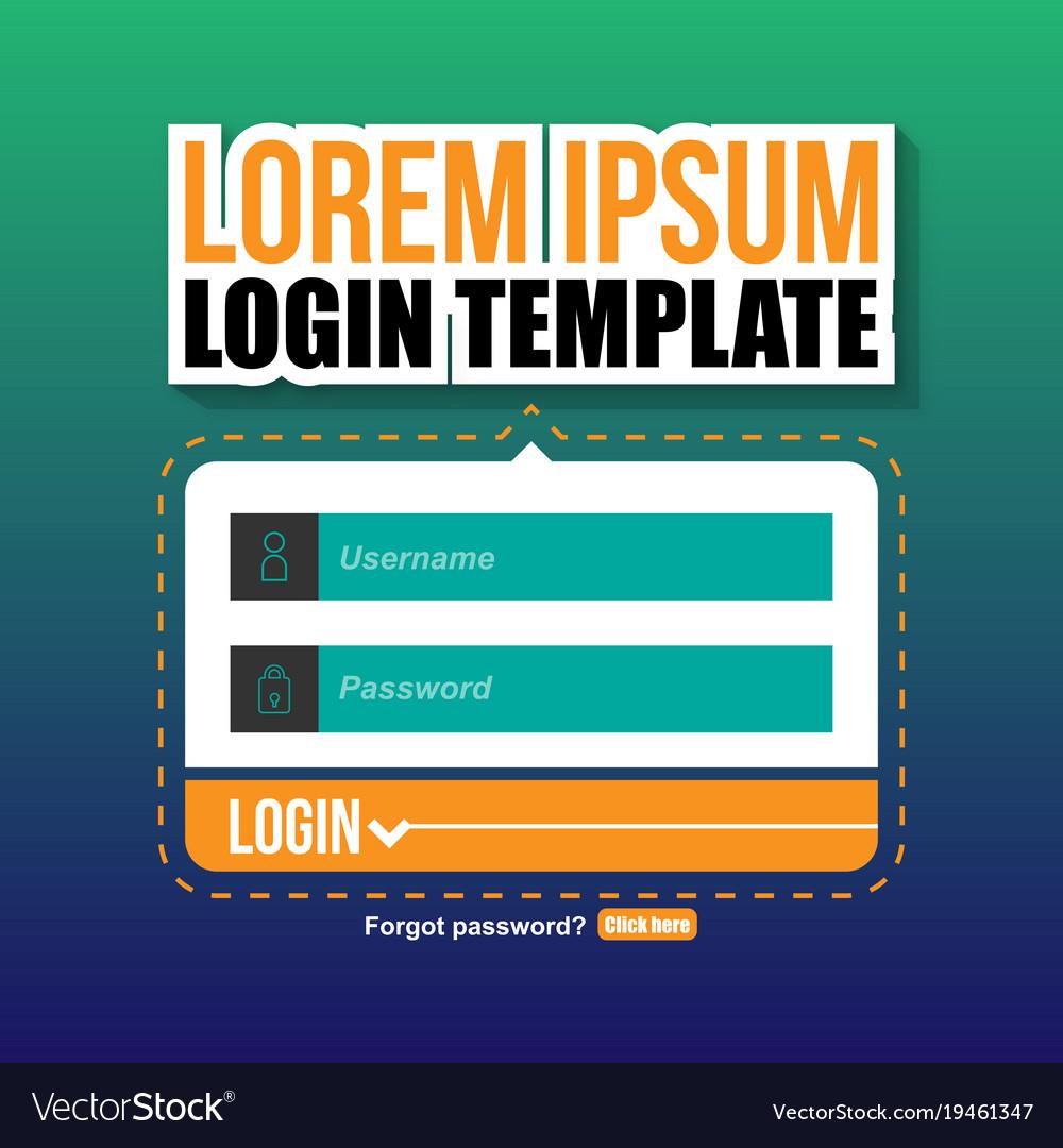 Login template ui image