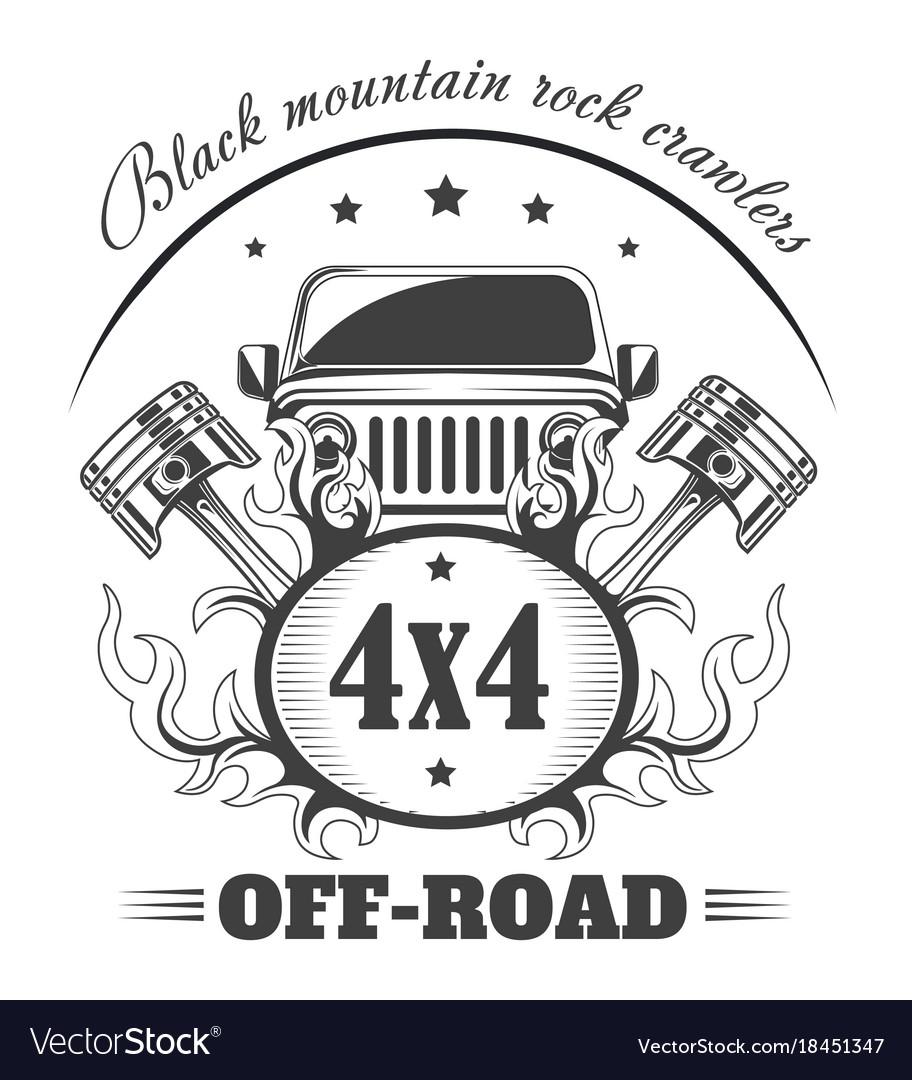 off road 4x4 extreme car club logo template vector image rh vectorstock com car club logo maker car club logos images