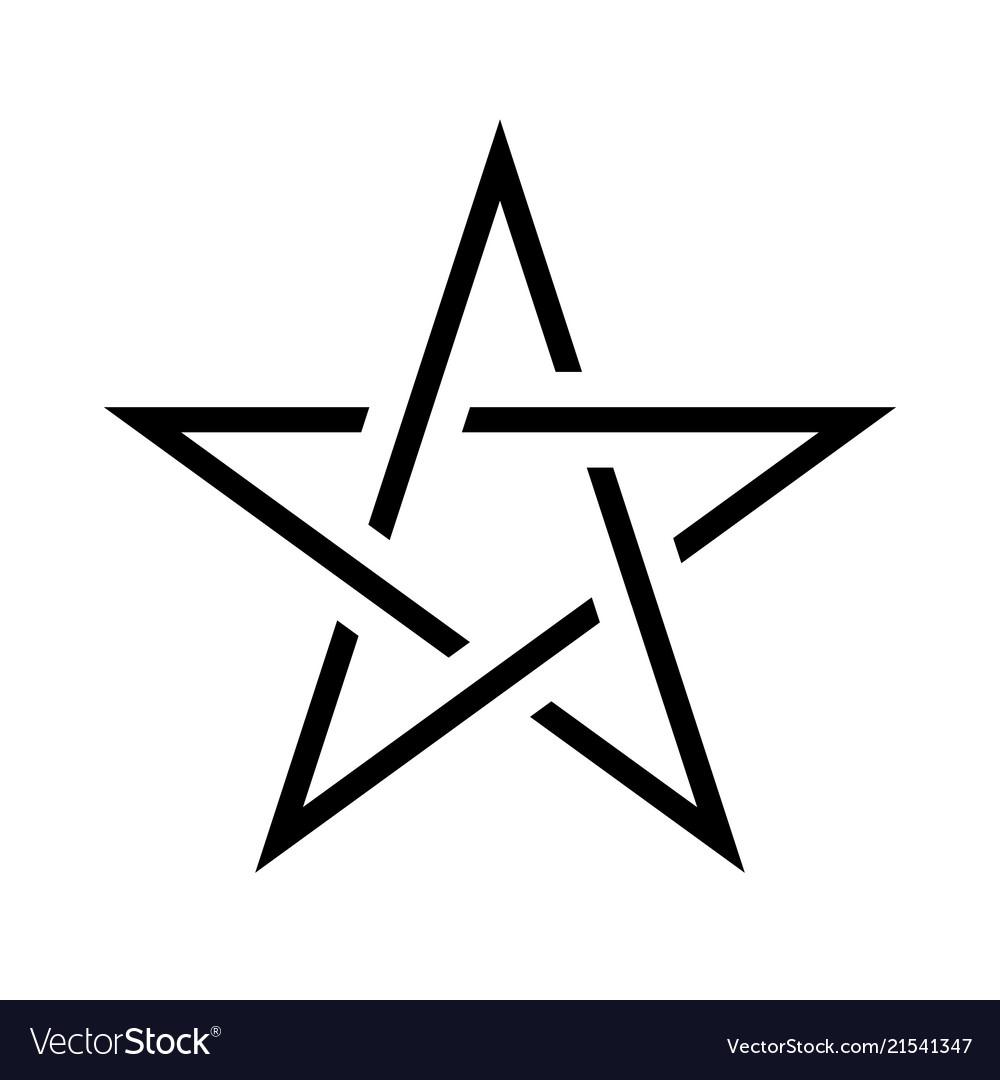 Pentagram sign - five-pointed star magical symbol