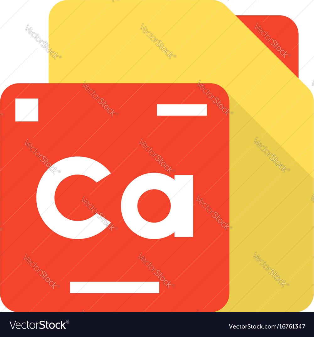 Periodic table element logo vector image