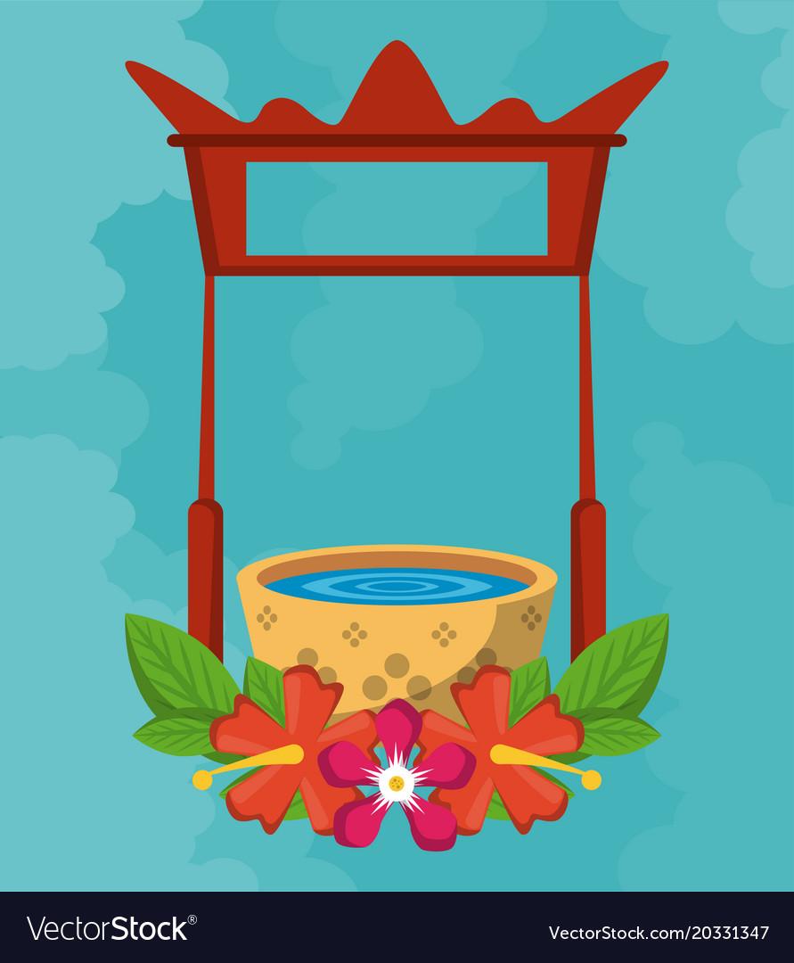 Songkran festival card